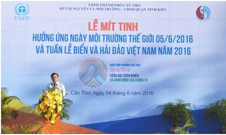 Thành phố Cần Thơ mít tinh kỷ niệm Ngày môi trường thế giới năm 2016.